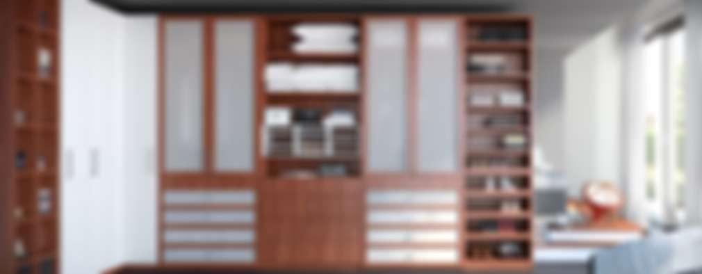 Vestidores y Closets:  de estilo  por Interioriza