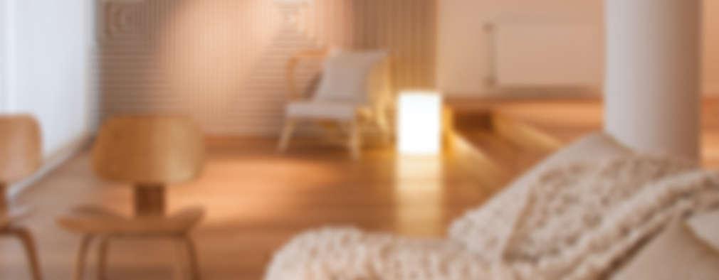 غرفة المعيشة تنفيذ Paula Herrero | Arquitectura