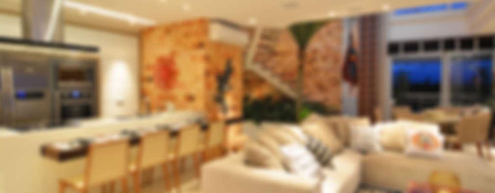 Salas de estilo rústico por ANNA MAYA & ANDERSON SCHUSSLER