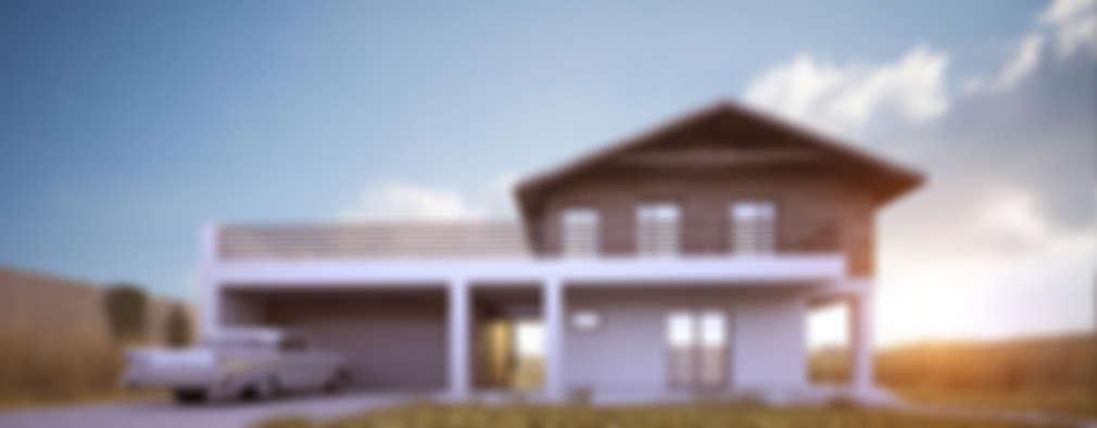 Projekty domów - House 10.2 : styl nowoczesne, w kategorii Domy zaprojektowany przez Majchrzak Pracownia Projektowa