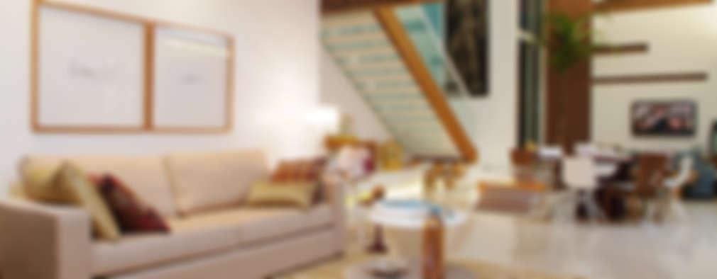 Salas de estilo minimalista por 360arquitetura