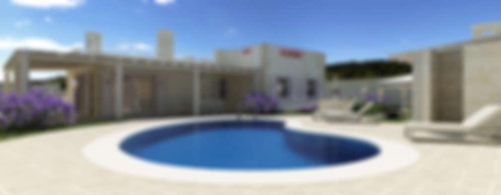 eclectic Pool by De Vivo Home Design