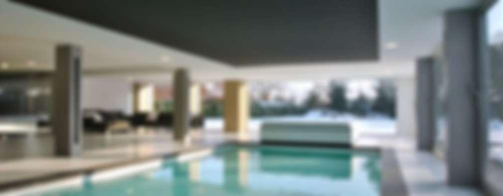 Restylen Villa te Essen: moderne Woonkamer door Vergouwen & Van Rijen architecten BNA BVBA