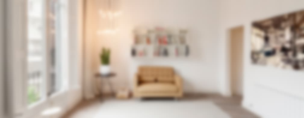 غرفة المعيشة تنفيذ Alex Gasca, architects.