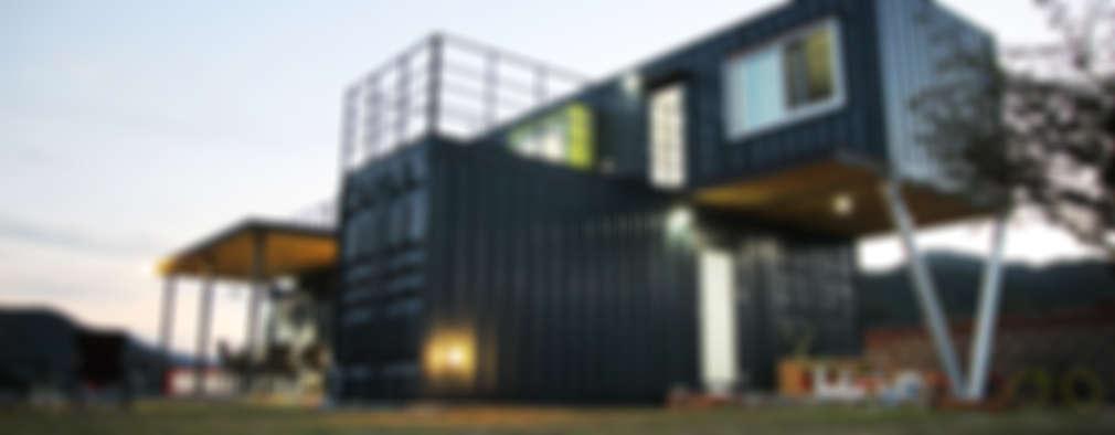 저렴하고 실용적인 선택. 2층 컨테이너 하우스 아이디어 10