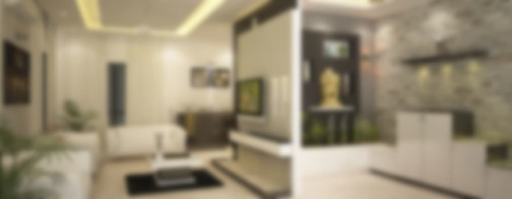 Living Room Partition Ideas. 4 bedroom Villa at Prestige Glenwood  modern Living room by ACE INTERIORS 9 amazing partition ideas for Indian home