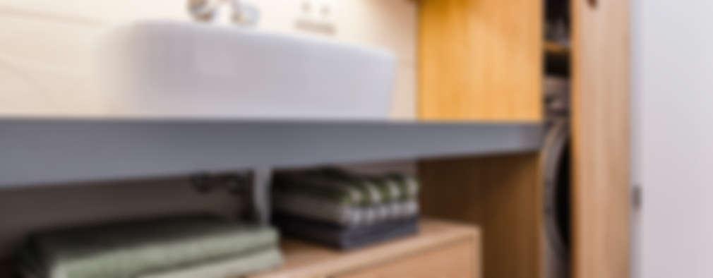 Nascondere la Lavatrice in Bagno e in Cucina: 27 Idee