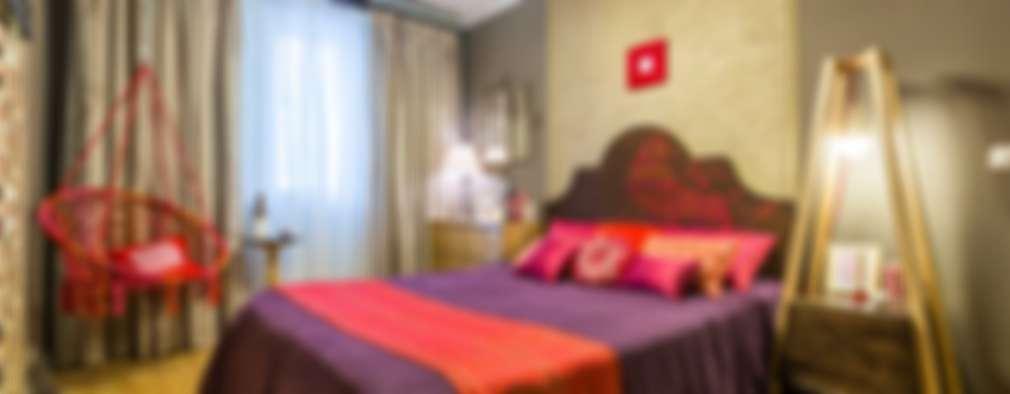 Projekty,  Sypialnia zaprojektowane przez Yucubedesign