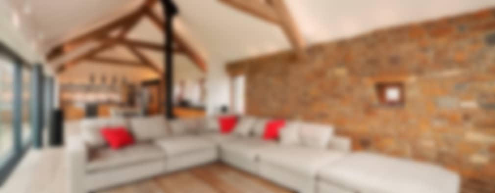 غرفة المعيشة تنفيذ Trewin Design Architects