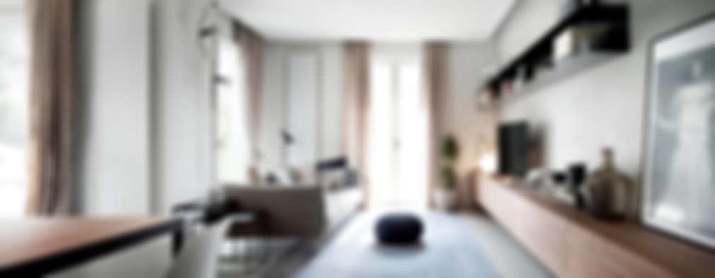 minimalistic Living room by StudioCR34