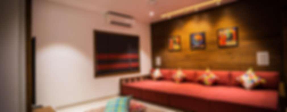 Chandresh bhai interiors: modern Living room by Vipul Patel Architects