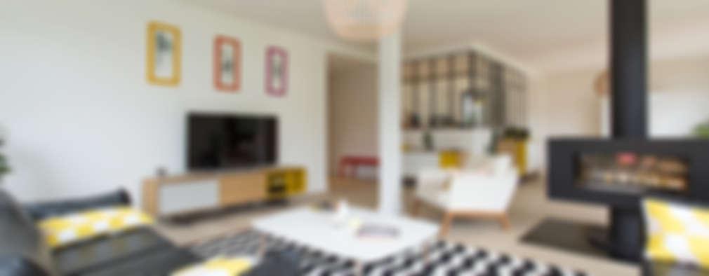 다채로운 색상과 패턴으로 장식된 화려한 모던 하우스