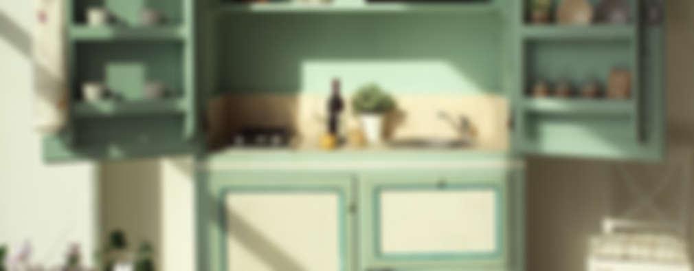 mediterranean Kitchen by LA BOTTEGA DEL FALEGNAME
