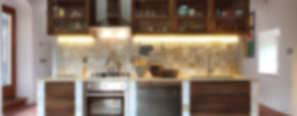 20 cocinas pequeñas con toque rústico que te van a encantar