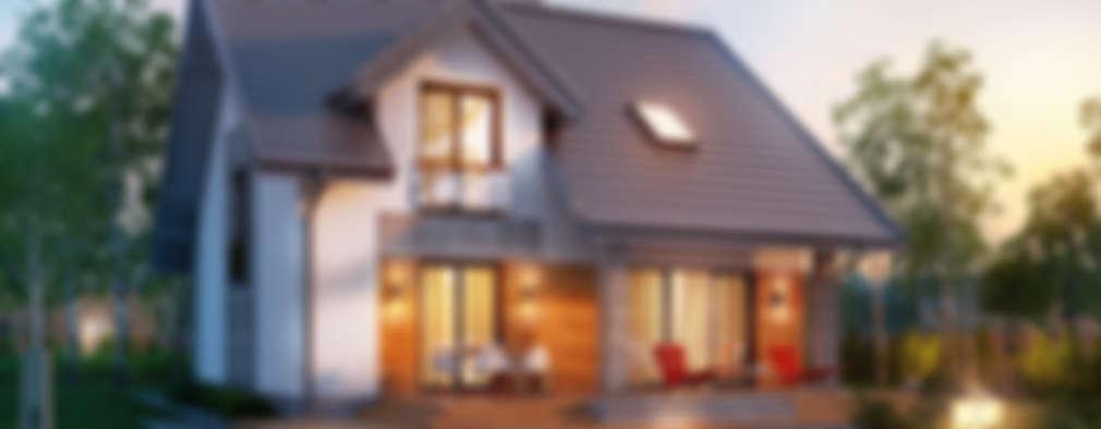Projekt: Dom w filodendronach 3: styl , w kategorii  zaprojektowany przez ARCHON+ PROJEKTY DOMÓW