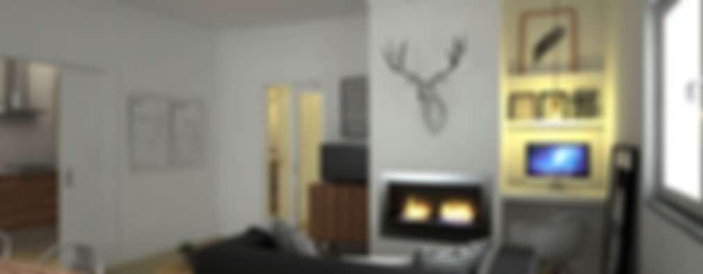 Maqet: modern tarz Oturma Odası