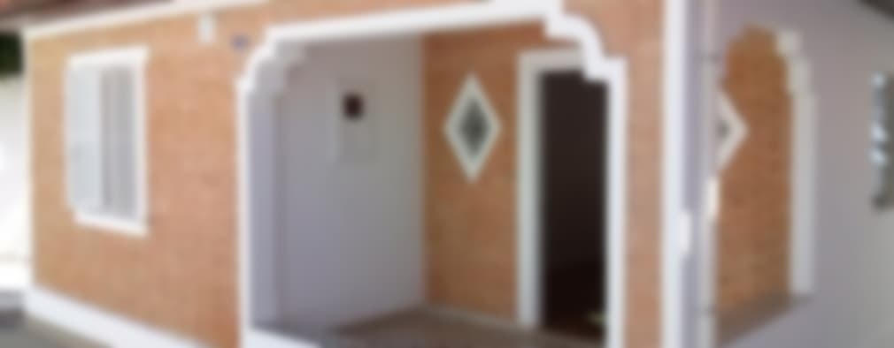 Casas de estilo rústico por Carmen Anjos Arquitetura Ltda.