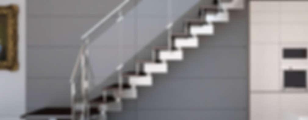5 barandas de vidrio que har n lucir tu escalera moderna - Barandas escaleras modernas ...