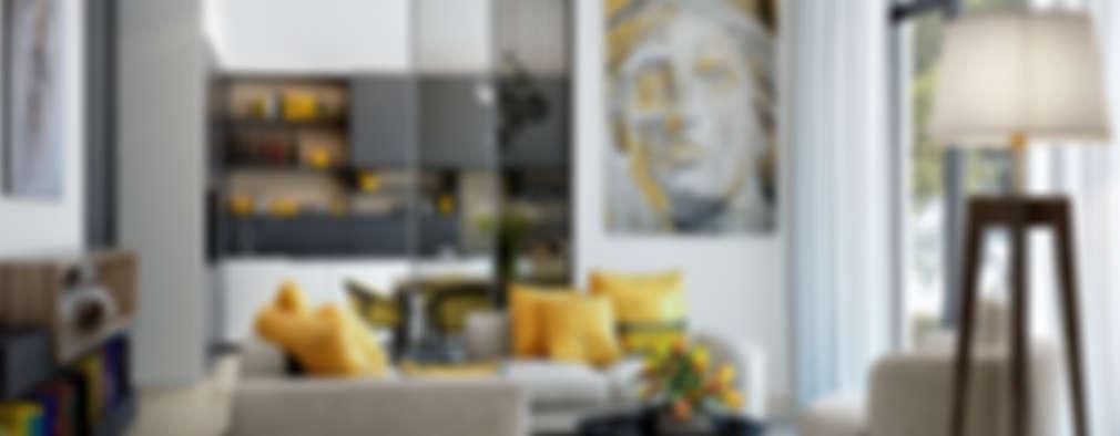 scandinavian Living room by PRIVALOV design