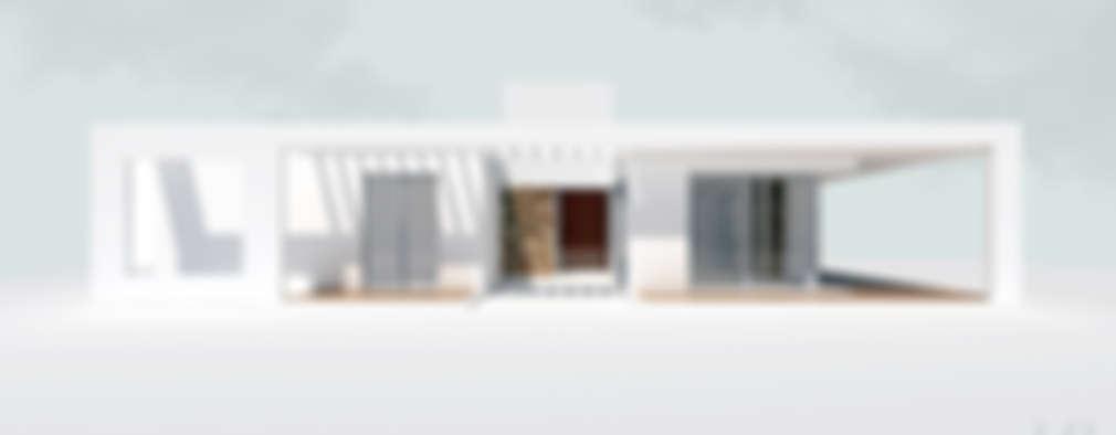 vista norte: Casas de estilo minimalista por 1.61 Arquitectos