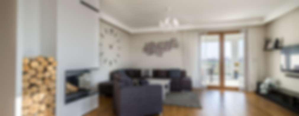 Realizacja projektu Ariel: styl , w kategorii Salon zaprojektowany przez Biuro Projektów MTM Styl - domywstylu.pl
