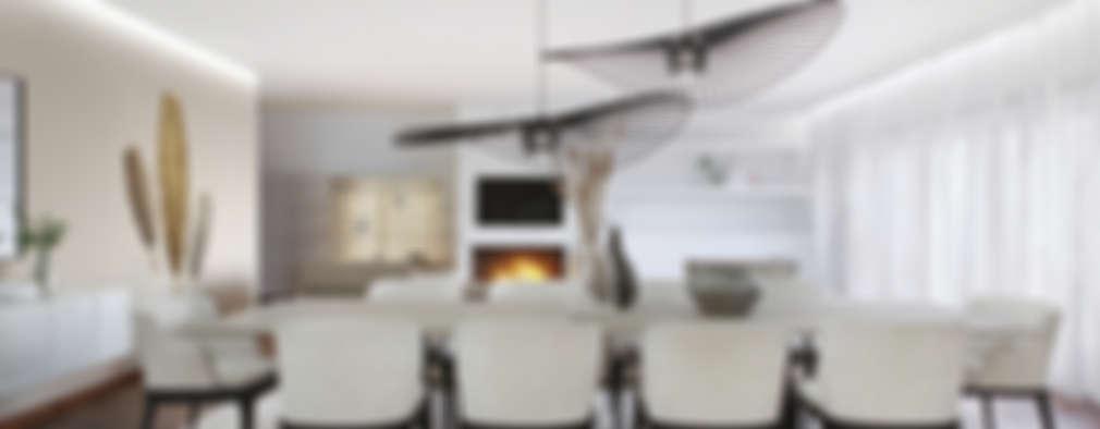 Comedores de estilo moderno por DZINE & CO, Arquitectura e Design de Interiores