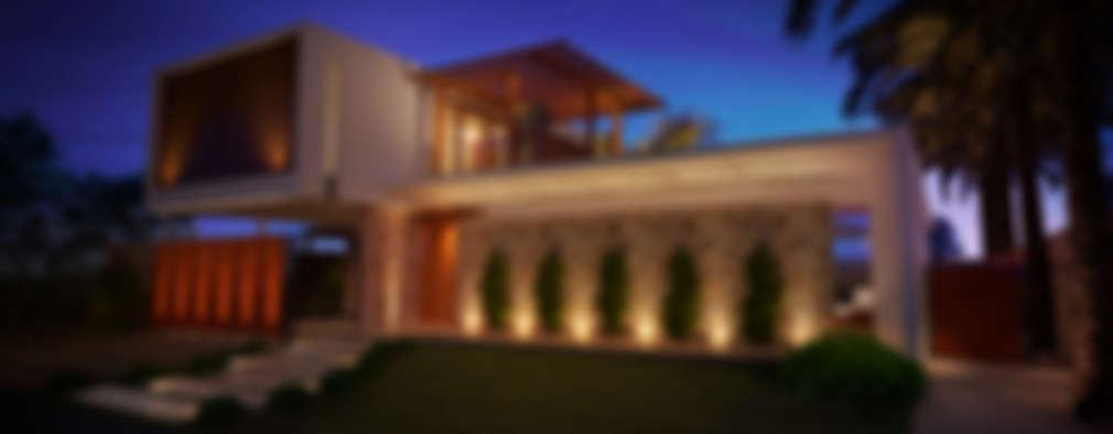 Casas de estilo moderno por ARC+ Arquitetura