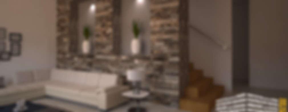 Pasillos y vestíbulos de estilo  por HHRG ARQUITECTOS