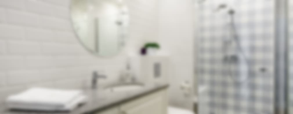 MIESZKANIE WAKACYJNE STYL PROWANSALSKI – AVIATOR – GDAŃSK: styl , w kategorii Łazienka zaprojektowany przez Anna Serafin Architektura Wnętrz