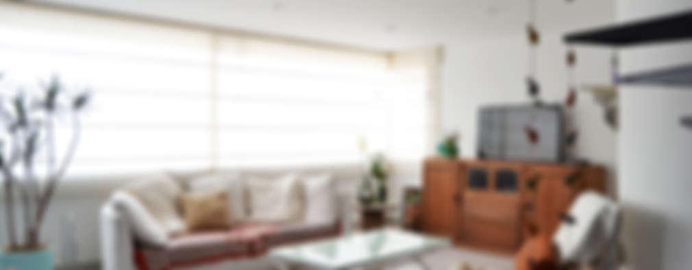 غرفة المعيشة تنفيذ santiago dussan architecture & Interior design