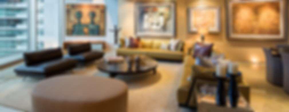 Penthouse Punto Central: Salas de estilo moderno por Línea Vertical
