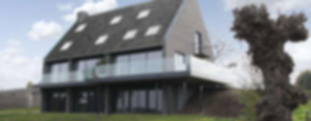 Projekty, nowoczesne Domy zaprojektowane przez Arend Groenewegen Architect BNA
