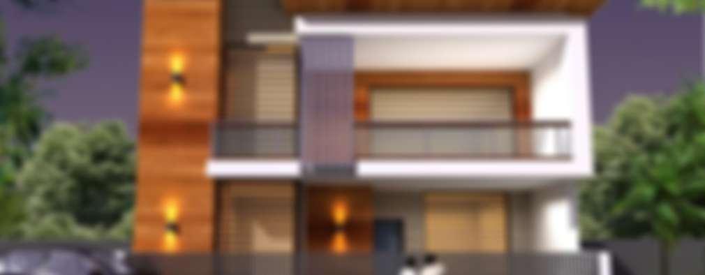 Casas de estilo asiático por RIDDEN INTERIO