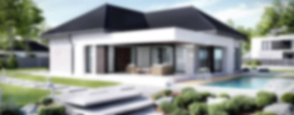 Casas de estilo moderno por HomeKONCEPT   Projekty Domów Nowoczesnych