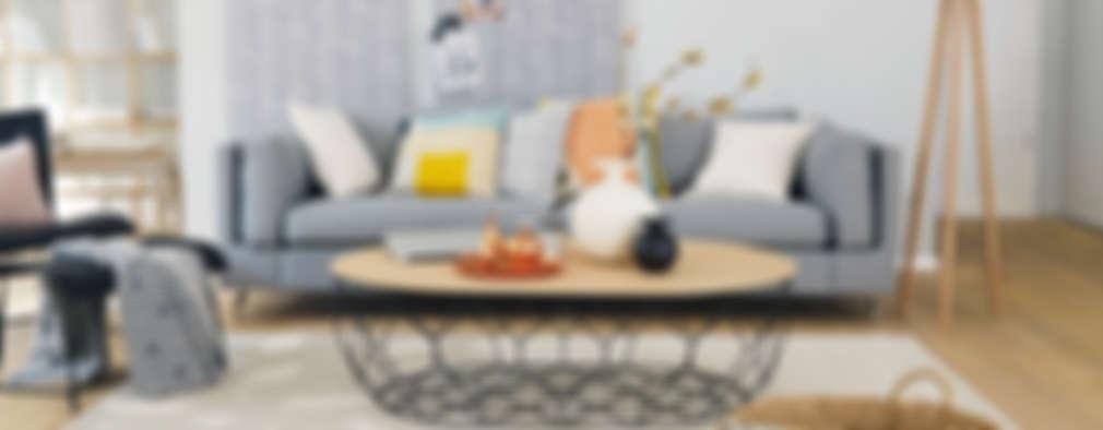 scandinavian Living room by Homemate GmbH