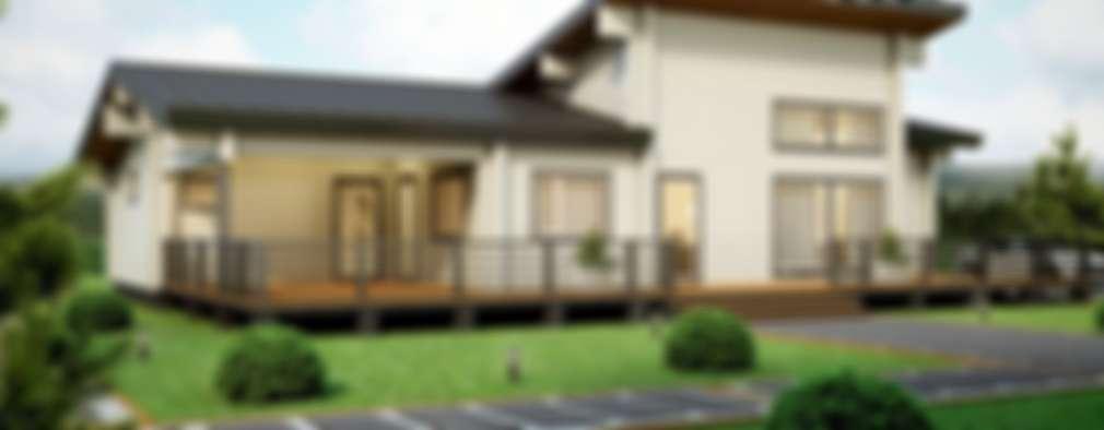 Casas de estilo escandinavo por EcoHouse Group