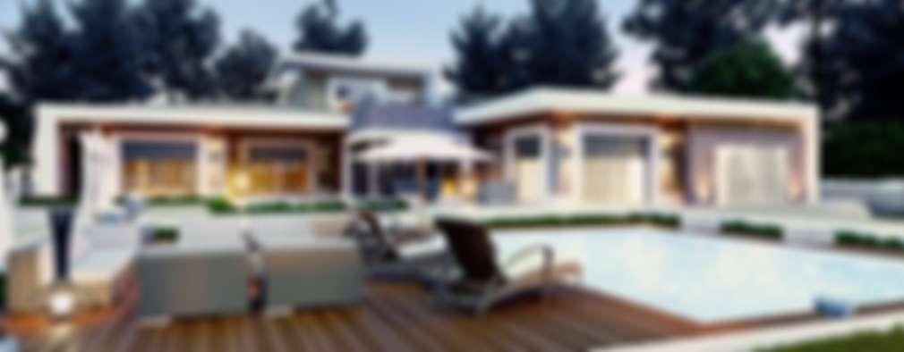 VERO CONCEPT MİMARLIK – Karadavut Villa: modern tarz Bahçe