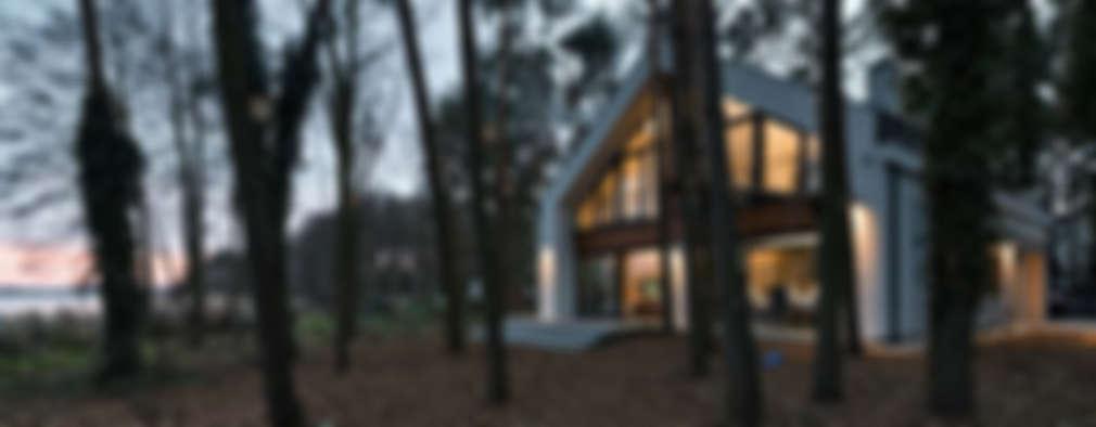 Dom jednorodzinny nad jeziorem: styl nowoczesne, w kategorii Domy zaprojektowany przez ELM Projekt Studio