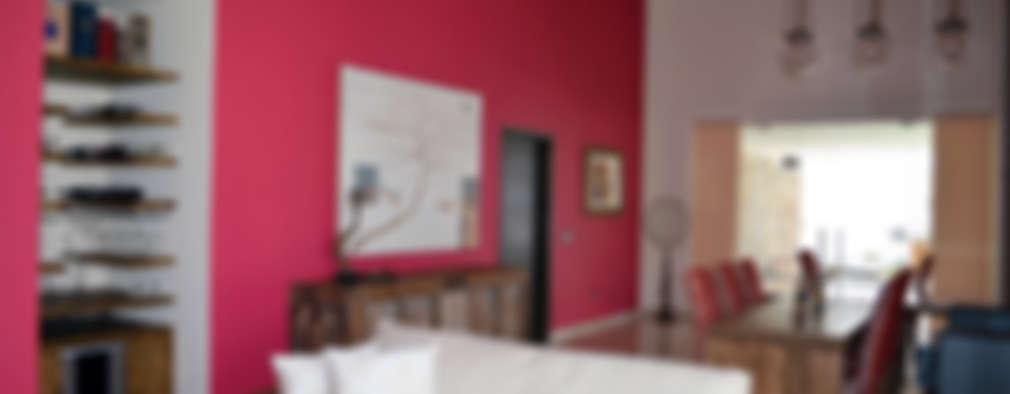 Salas de estilo asiático por Erika Winters Design