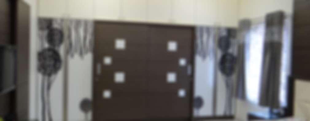 First floor master bedroom wardrobe: modern Bedroom by Hasta architects