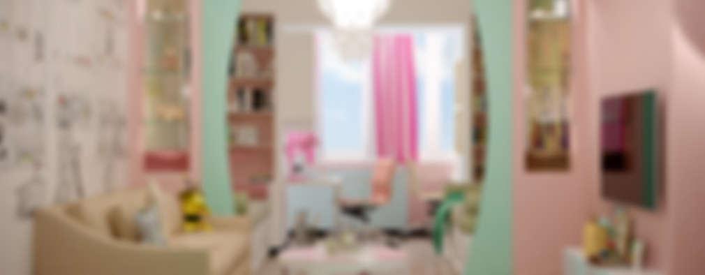 غرفة الاطفال تنفيذ Студия интерьерного дизайна happy.design