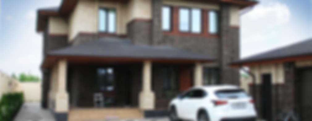 Projekty, nowoczesne Domy zaprojektowane przez АРХИФАБРИКА