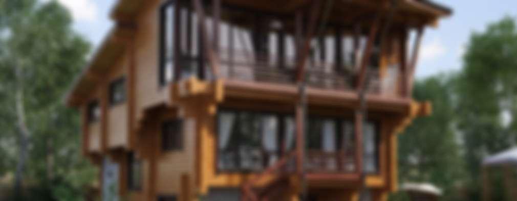 Projekty, nowoczesne Domy zaprojektowane przez GOOD WOOD