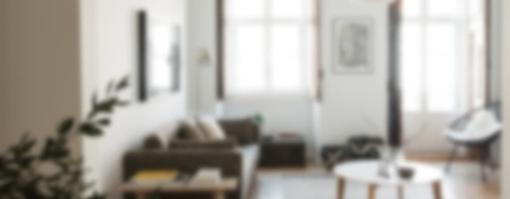 scandinavian Living room by Arkstudio