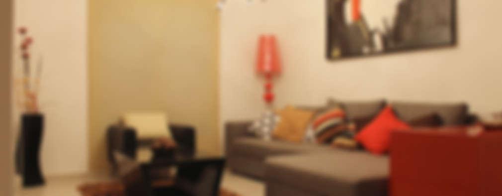 Diseño interior Sala 1:  de estilo  por Constructora Asvial - Desarrollador Inmobiliario