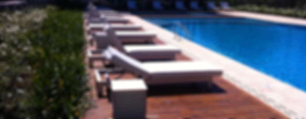 Decks de Madera. Lapacho y Curupay : Piletas de estilo moderno por VIER ABINET S.A. Pisos & Decks