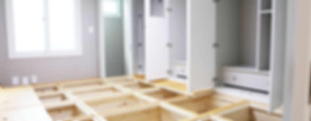 Vestidores y closets de estilo moderno por 디자인팩토리9MM