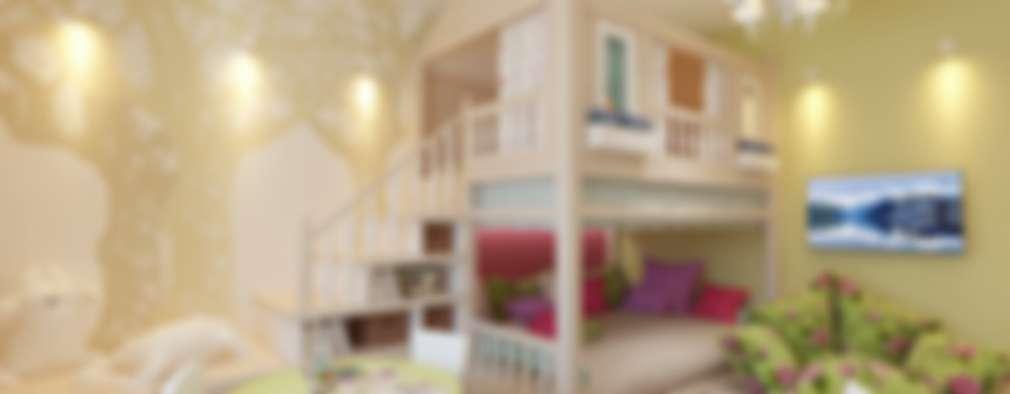 غرفة الاطفال تنفيذ Студия интерьера Дениса Серова