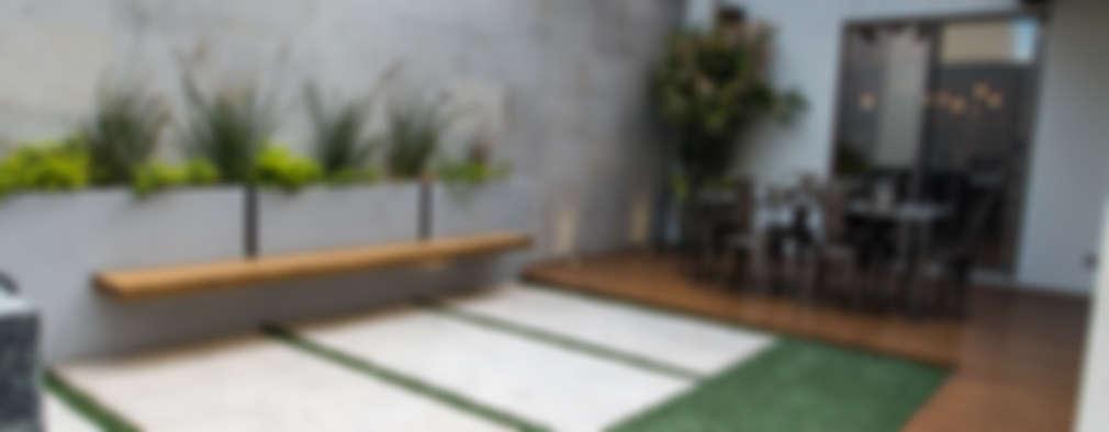 Macetas para terrazas cheap fabulous terraza solucin para - Como cubrir una terraza ...