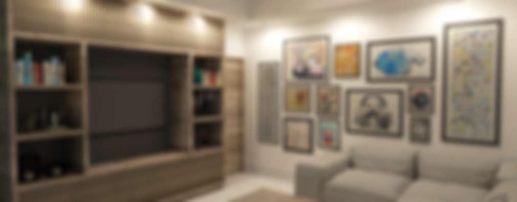 غرفة المعيشة تنفيذ TAMEN arquitectura